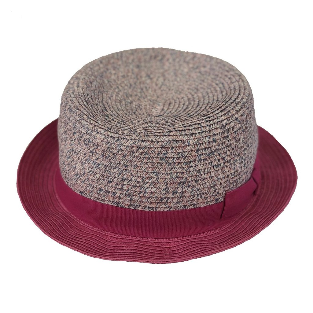 Dámský letní růžový klobouk