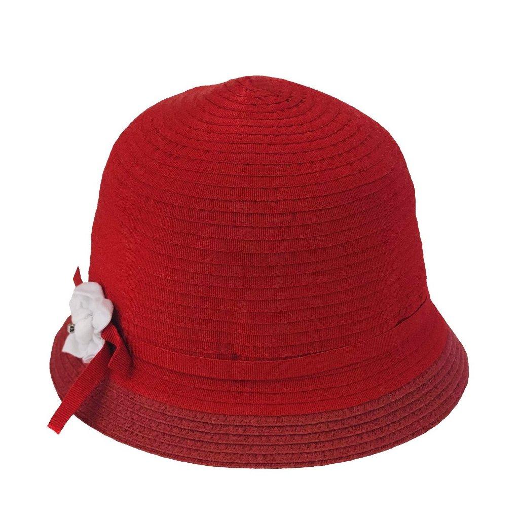 Klobouk dámský letní - červená