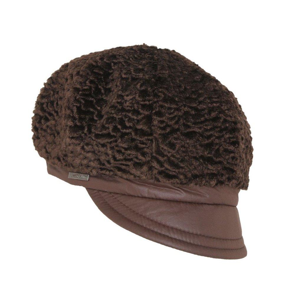 Dámská zimní čepice s malým kšiltem