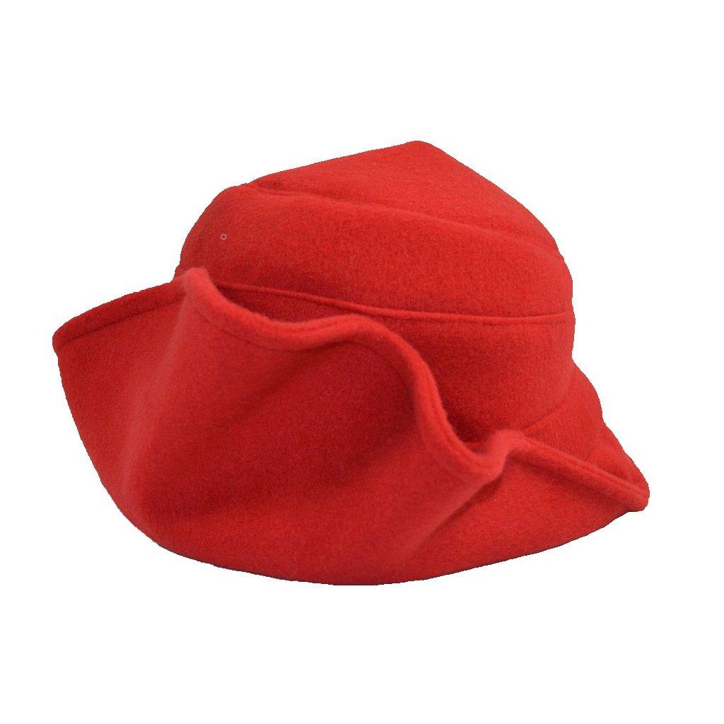 Dámský červený klobouk