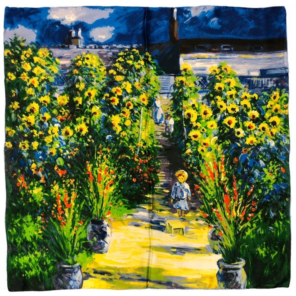 HEDVÁBNÝ ŠÁTEK Claude Monet