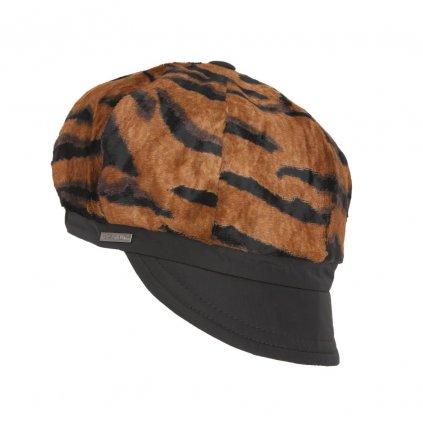 Dámská tygrovaná čepice s malým kšiltem